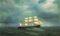 ein dampfschiff auf hoher see by de simone
