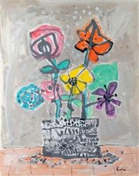 fleurs dans un pot by paul aïzpiri
