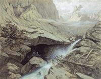 märchendrache in gebirgshöhle by max spilhaczek