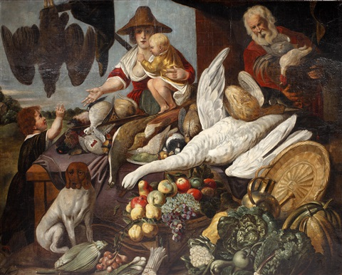a market scene by jacob jordaens