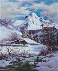 paesaggio invernale by ottorino junior campagnari