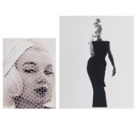 marilyn monroe (+ marilyn monroe in black dress, 1962; 2 works) by bert stern