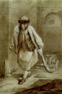 a saxon pulling a wheelbarrow by charles françois hutin