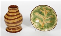 vase (+ dish; 2 works) by hylton nel
