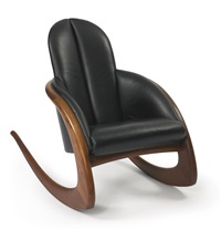 crescent rocker by wendell castle