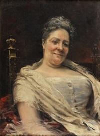 retrato de dama by josé llaneces