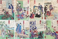 untitled (9 works) by utagawa toyokuni (toyokuni i)