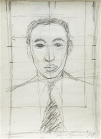 untitled (man with tie) by luc tuymans