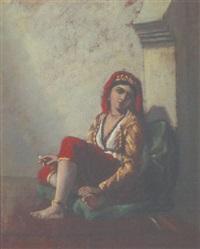 jeune femme au harem by françois lauret
