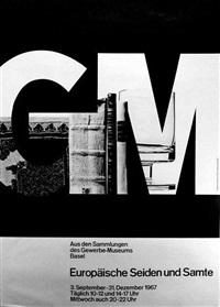 europäische seiden und samte - gerwerbemuseum basel (2 works) by armin hofmann
