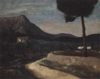 paysage, provence by erich klossowski
