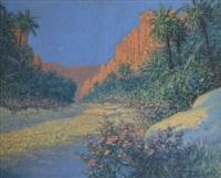 le gorges d'el kantara, algérie by georges victor laurent dantu