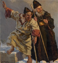 the monk and the holy fool by pavel petrovich sokolov-skalua