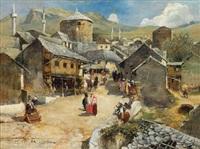 eine straßenszene in mostar by paul reiffenstein