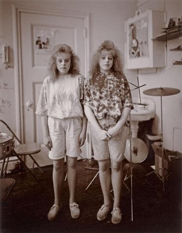 the stewart sisters, h.f. grebey junior high school, hazleton, pennsylvania by judith joy ross