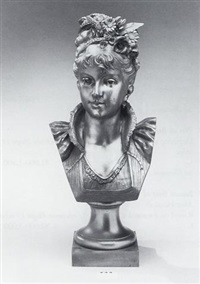 bust of a woman by a. rolle