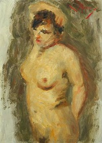 nude female model by lucien rené mignon