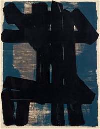 lithographie no 6 by pierre soulages