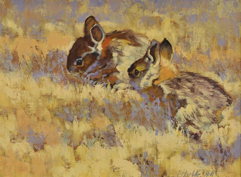 baby bunnies by barbara hill