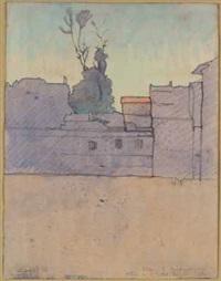 piazza sant'ambrogio – primo (alba) (studio per il trittico la città) by llewelyn lloyd