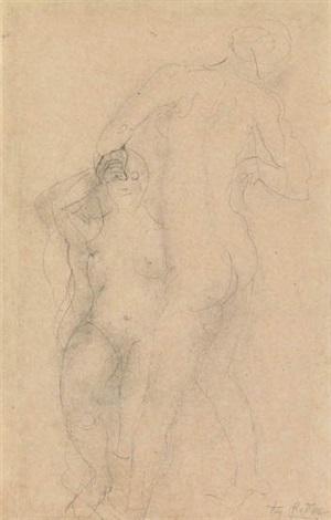 deux femmes nues by auguste rodin