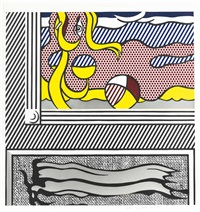 two paintings: beach ball (from paintings) by roy lichtenstein