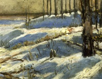 humber river valley in winter by william edwin atkinson