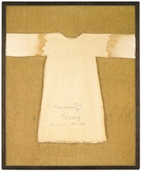 we extend the holy robe by 25 more sewn copies by joseph beuys, katharina sieverding, imi knoebel and imi giese