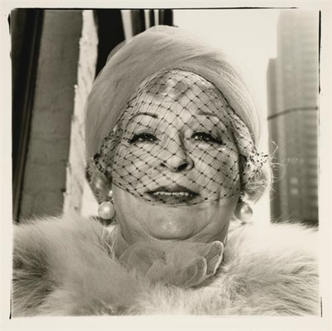 woman with a veil on fifth avenue nyc by diane arbus