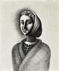 sem título, (mulher com lenço) by almada negreirors