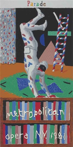 parade metropolitan opera new york by david hockney