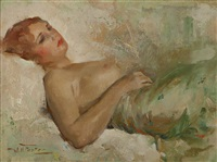 reclining nude by william frederick foster