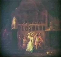 palatsinterior med festscen by frans breydel