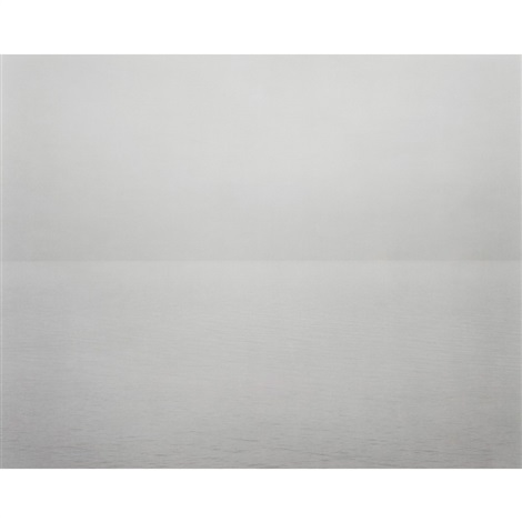 lake scperior cascade river 1995 end of time exhibition poster by hiroshi sugimoto