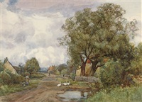 summertime in northumberland by sir ernest albert waterlow