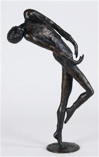 tanzender jüngling in starkbewegter haltung by meta (maria theresia) mettig von ellenberger