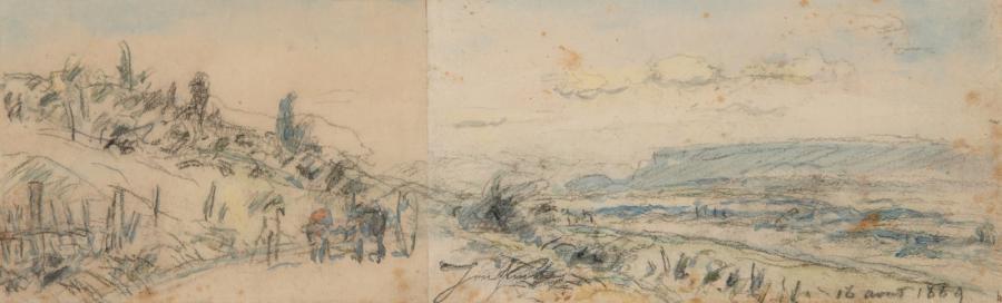 paysage du dauphiné by johan barthold jongkind
