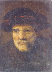 head of a bearded old man by karel van der pluym
