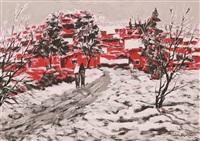 winter paysage by sabri akca