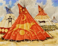 cheyenne teepees by paul pletka