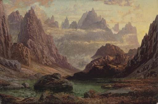 sunset peaks of the horungerne norway by charles pettitt