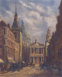 ludgate hill towards st. pauls by m. j. rendall