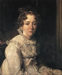 portrait of harriet de wint, née hilton by william hilton the younger