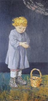 bimbo con cestino by agostino bosia