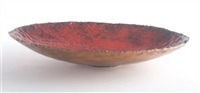enameled bowl by fantoni