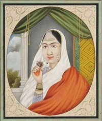 a medallion portrait of a punjabi beauty by anonymous-indian (19)