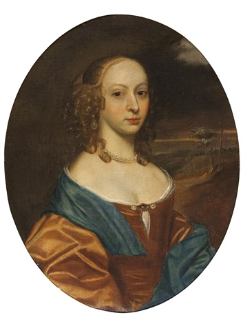 portrait of a lady with ringlets by john hayls