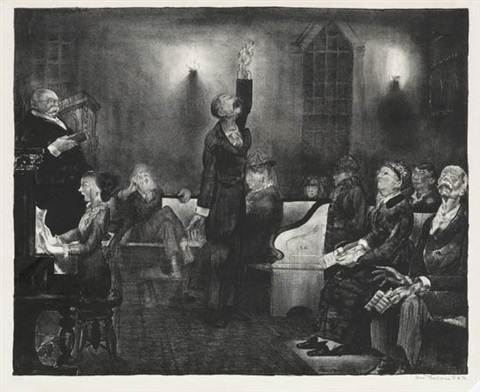 prayer meeting second stone by george wesley bellows
