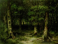 deep forest by frederik willem zurcher