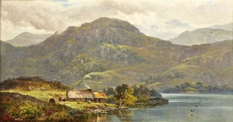 cottage view in wales by alfred de breanski sr
